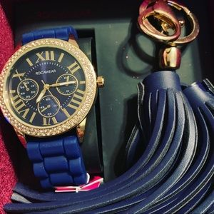 Rocawear watch and keychain set
